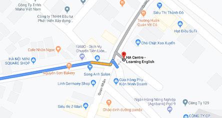 Map trung tâm tư vấn du học HA Abroad CS Hà Nội