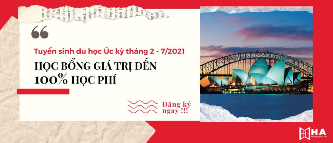 tuyển sinh du học Úc kỳ tháng 2-7/2021