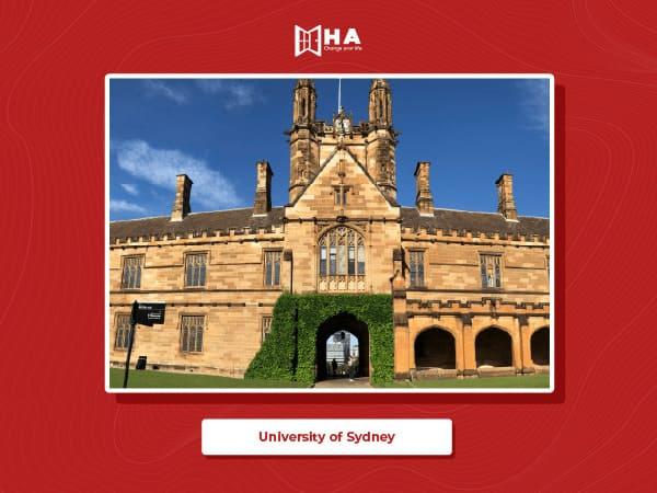 University of Sydney thuộc top các trường đại học hàng đầu du học Úc