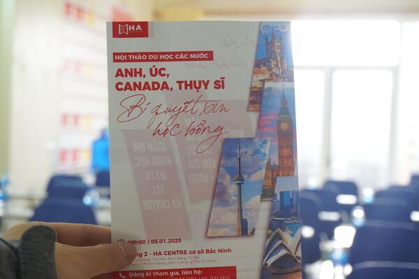 Hội thảo du học các nước Anh, Úc, Canada, Thụy Sĩ