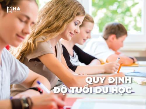 quy định độ tuổi du học