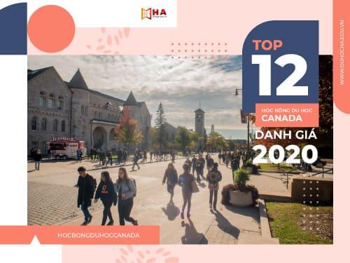 TOP 12 học bổng du học Canada danh giá 2020