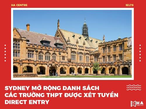 Đại học Sydney mở rộng danh sách các trường THPT Việt Nam được xét tuyển Direct Entry