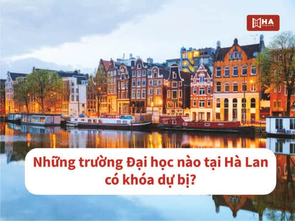 Những trường Đại học ở Hà Lan cung cấp khóa học Dự bị