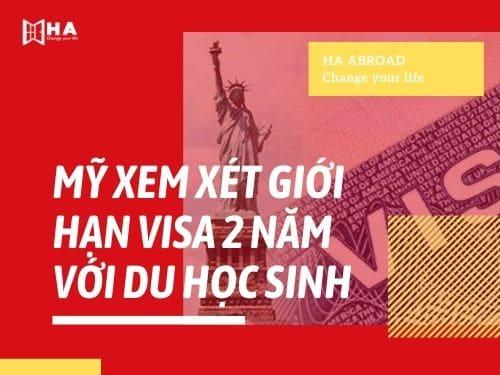 Mỹ xem xét giới hạn visa 2 năm với du học sinh