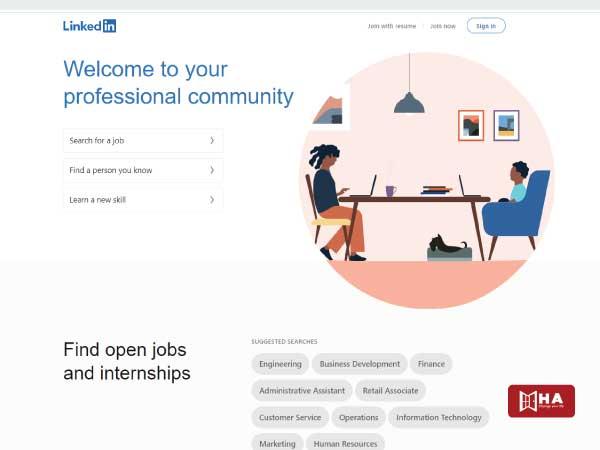LinkedIn- Website giúp bạn tìm việc làm thêm ở Canada