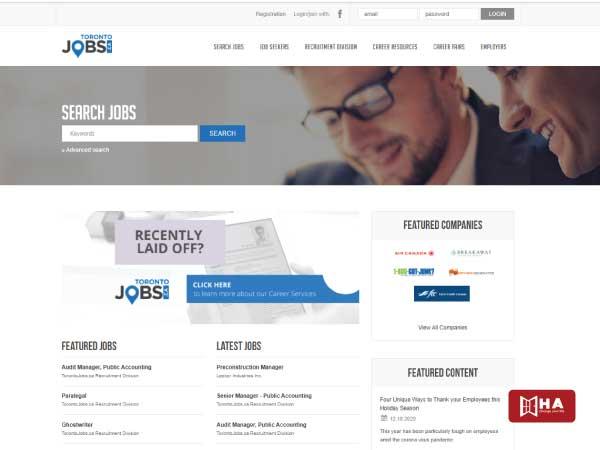Toronto Jobs- Website giúp bạn tìm việc làm thêm ở Canada