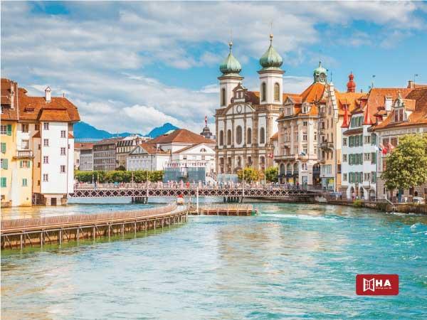 Thành phố Lucerne thành phố khi du học Thụy Sĩ