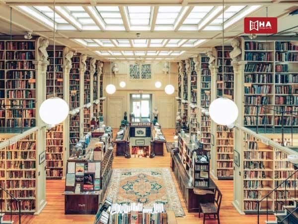 Sử dụng thư viện tiết kiệm chi phí du học mỹ