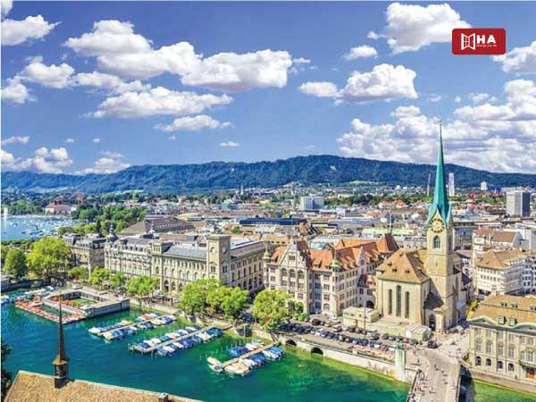 Thành phố Zurich thành phố khi du học Thụy Sĩ