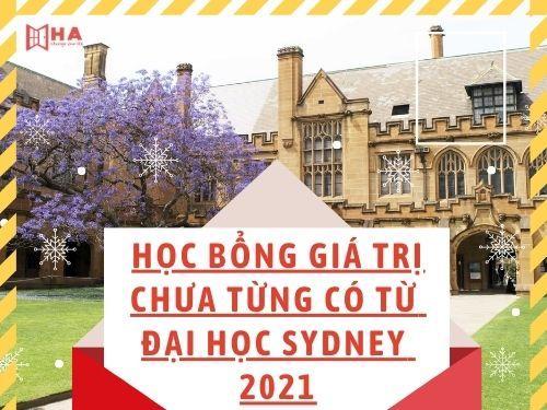 Săn ngay học bổng đại học Sydney 2021 giá trị chưa từng có