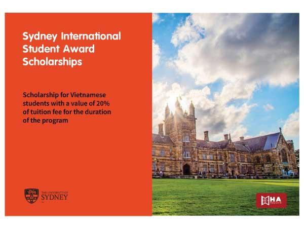 Học bổng Sydney International Student Award (SISA)