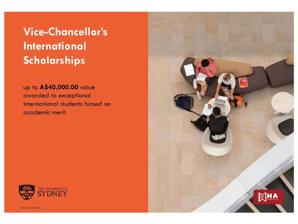 Học bổng Vice-Chancellor's International Scholarships (VCIS)