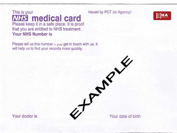 NHS and register General Practitioner (GP)