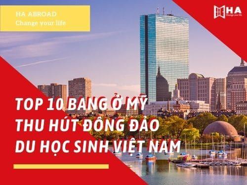 TOP 10 bang ở Mỹ thu hút đông đảo du học sinh Việt Nam