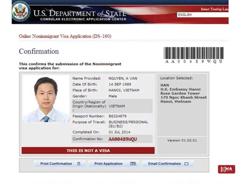 xin visa du học mỹ Hoàn thành mẫu đơn DS-160