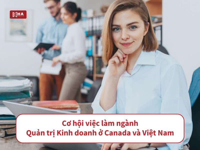 Cơ hội việc làm khi học quản trị kinh doanh ở Canada