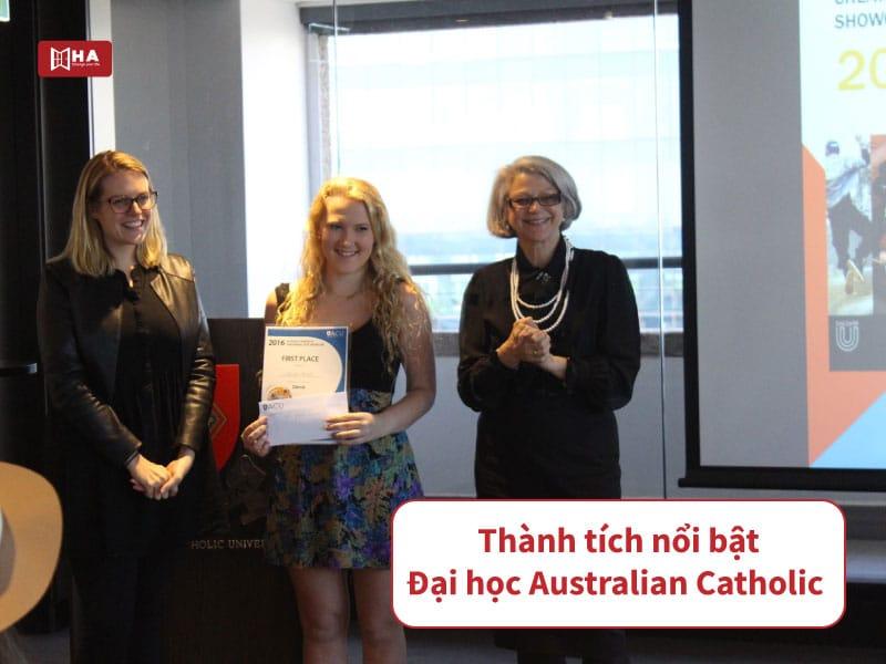 Thành tích nổi bật đại học Australian Catholic